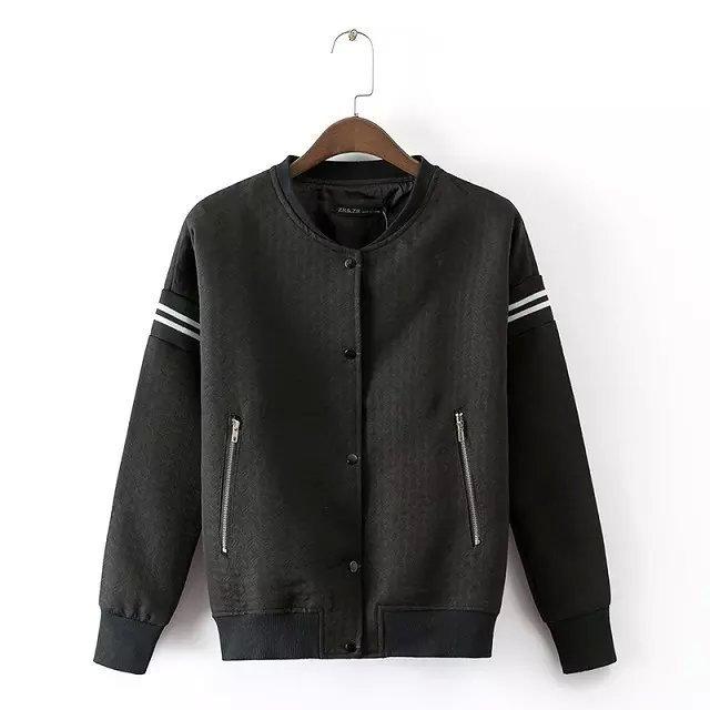 Buy hipster black Handsome baseball jacket women clothing 2015 ...