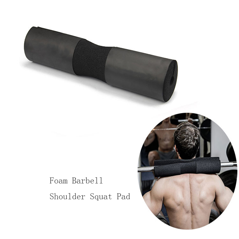 Barbell Squat Pad with 2 pcs straps,carry bag for Bar Weight lifting