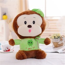 excellent quality family fabrication plush dressed fruit monkey with hat Hanjiang manufacture exporter