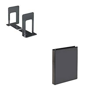 KITAVE19600UNV54095 - Value Kit - Avery Economy Showcase View Binder with Round Rings (AVE19600) and Universal Economy Bookends (UNV54095)