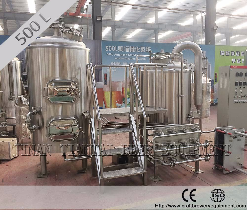 500L three vessel electric micro brewing industry for sale