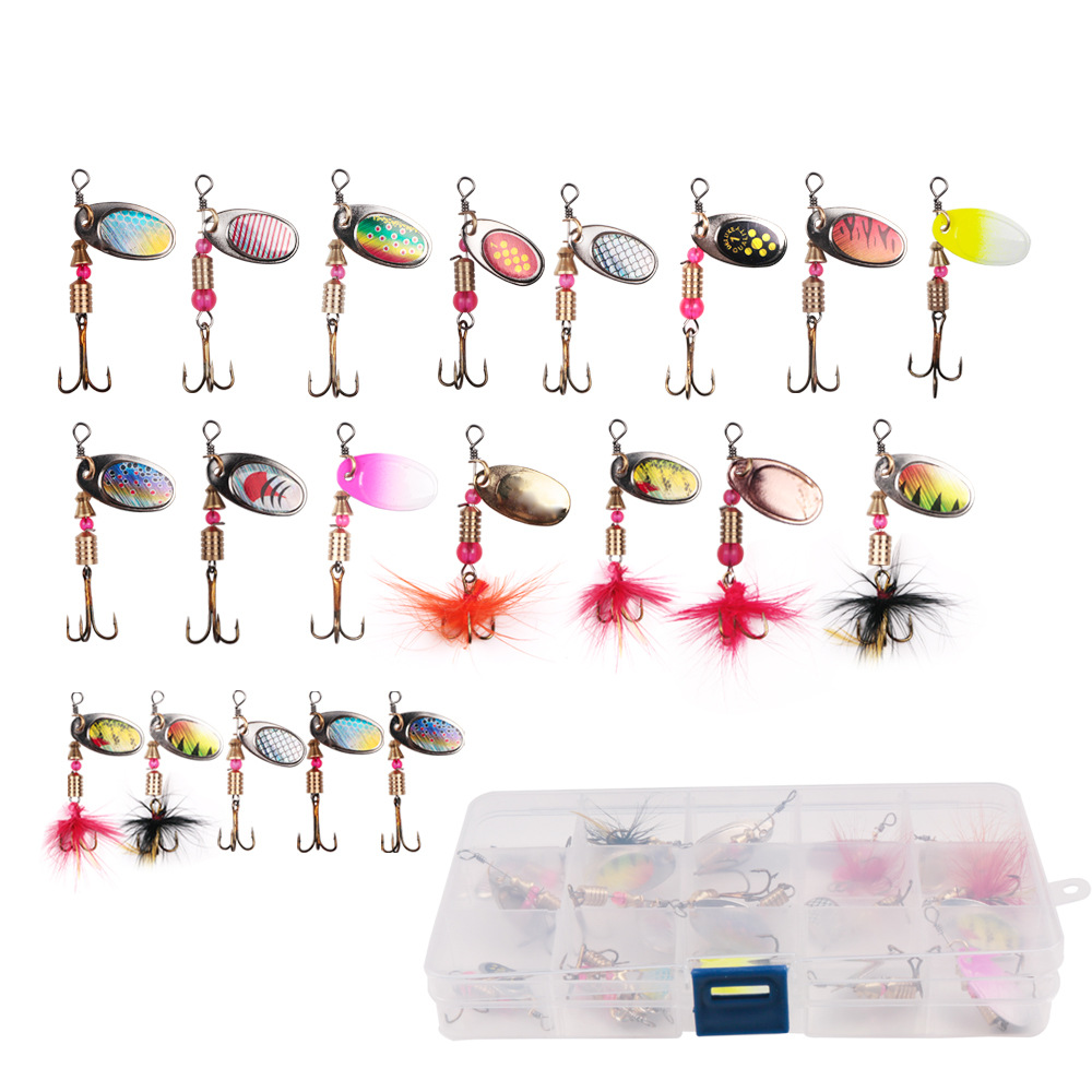 Colorful 2-4g Spinning Fishing Bait Metal Lure Set Combo Spinner Spoon Fishing Lures, Multi colors