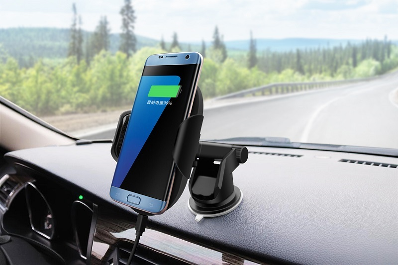 Easy Install Wireless Phone Charging Holder Car 360 Rotation Holder Wireless Charger