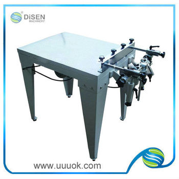 High precision vacuum flat bed screen printer