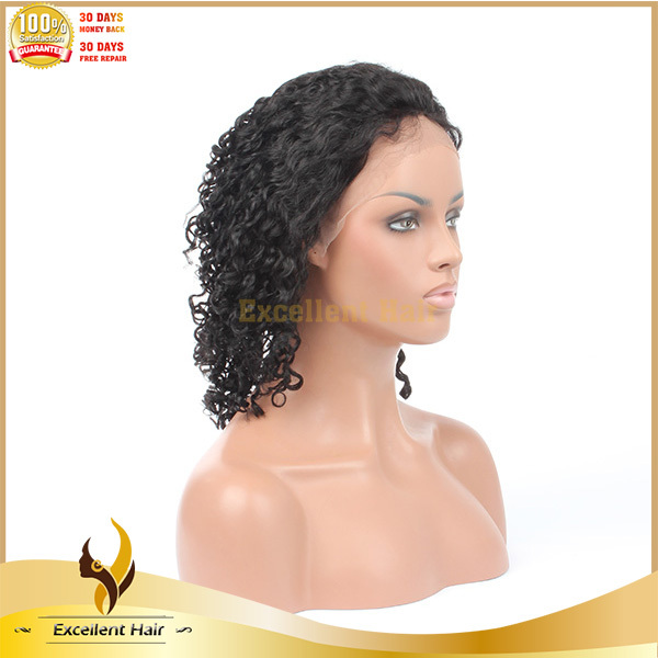 Best Quality Black Women Natural Color Indian Virgin Remy 25mm Curly Human Hair Full Lace Wigs Buy