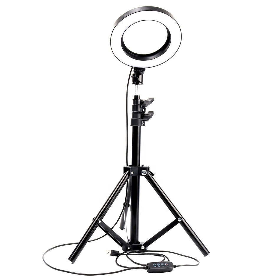 Dimmable Ring LED lamp Studio Camera Ring Light Photo Phone Video Light Lamp With Tripods Selfie Stick Ring Fill Light