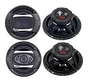 "2)New Boss PC65.2C 6.5"" 500W 2-Way + 2) Boss P65.4C 6.5"" 400W 4-Way Car Speakers"
