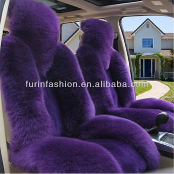 Elegant Purple Sheepskin Fur Car Seat Covers Buy Fur Car