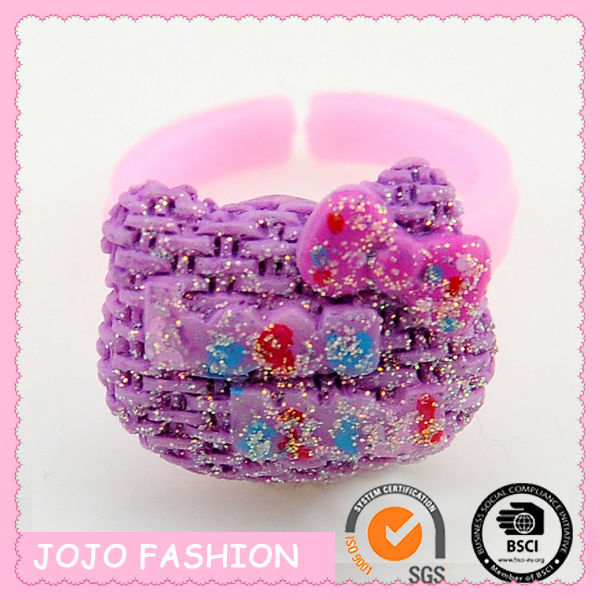 adjustable purple cat rubber ring for children