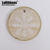 Personalized Christmas ornament embossed snowflakes wood tag great for ornaments or gift tags