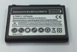 Li-ion 3.7v Replacement PDA Battery for Blackberry Torch 9800 / Storm 9500/ 9530/ Curve 8900/ 9630