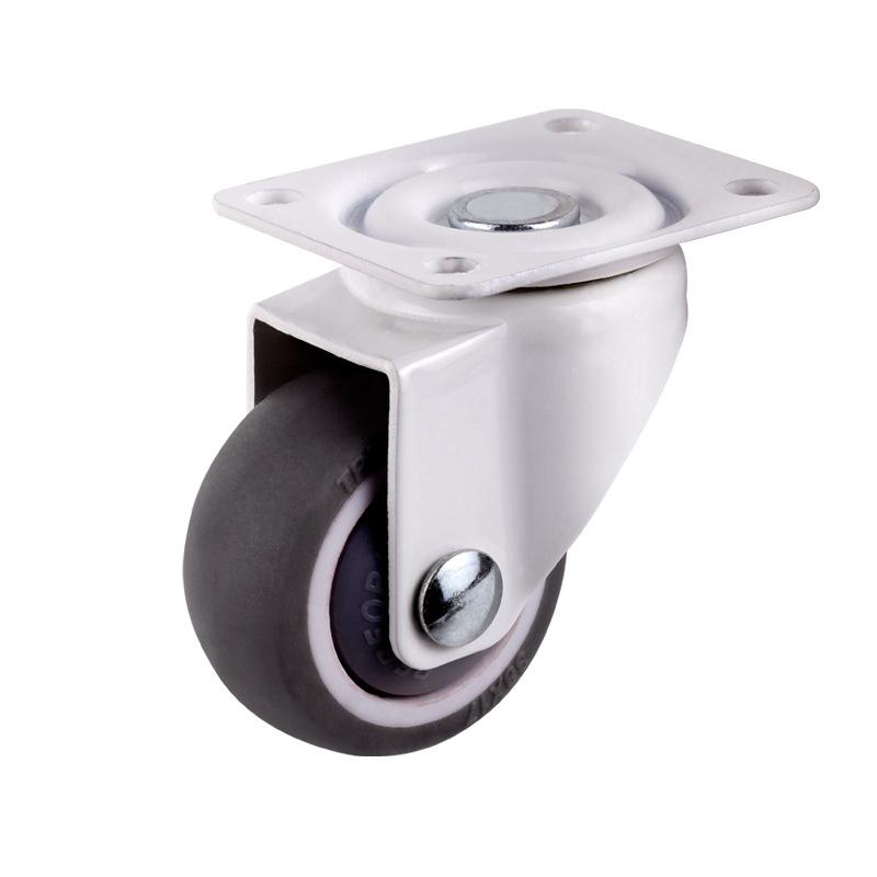 6303 ZZ Bearing and Cast iron and PU Material Heavy Duty Caster Wheels