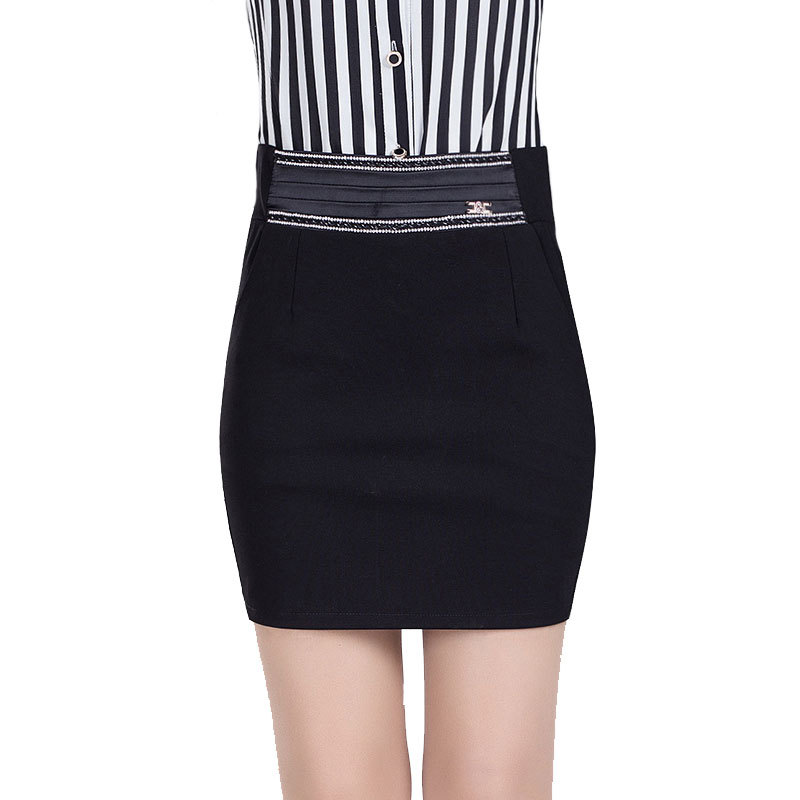 e45dbab8b0b Get Quotations · 2015 spring and autumn new Korean OL career step skirt  package hip skirt stitching Slim was
