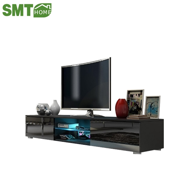 Living Room Furniture Modern Tv Cabinet Tv Stand With Led Light And