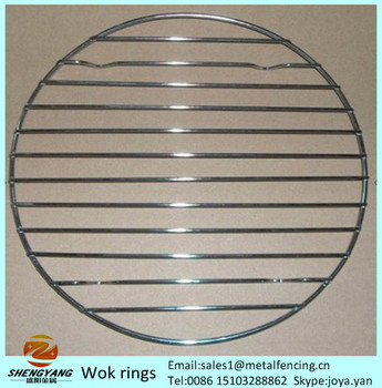 Eco-friendly round cooking ware steaning rack stands stainless steel sturdy steamer racks steel wire wok rings