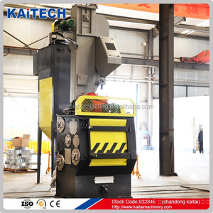 Q326 tumble belt type small shot blasting machinery for blots and nuts surface cleaning aftersales service provided