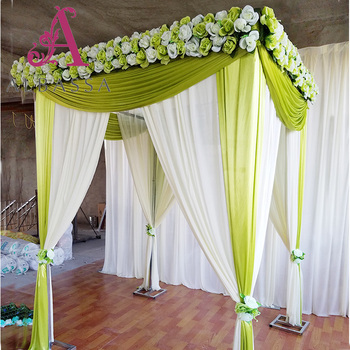 Pipe And Drape North America Indian Wedding Stage Decorations Design
