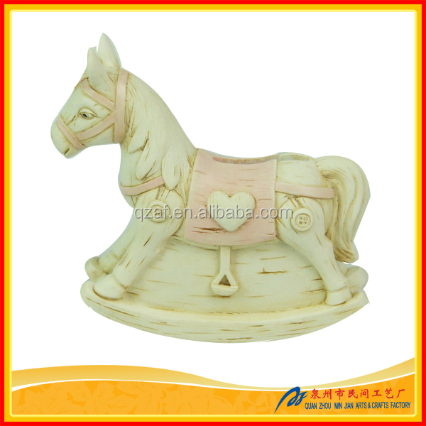 Polyresin Baby Rocking Horse Money Box