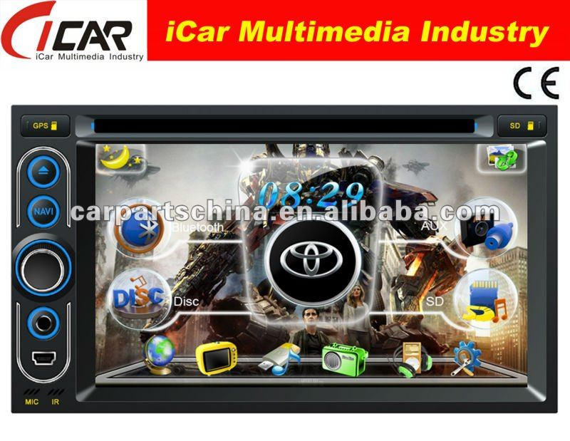 (iCar-6218)HOT Double Din 6.2'' touch screen,GPS,Bluetooth,TV,IPod car gps tv bluetooth sd dvd radio