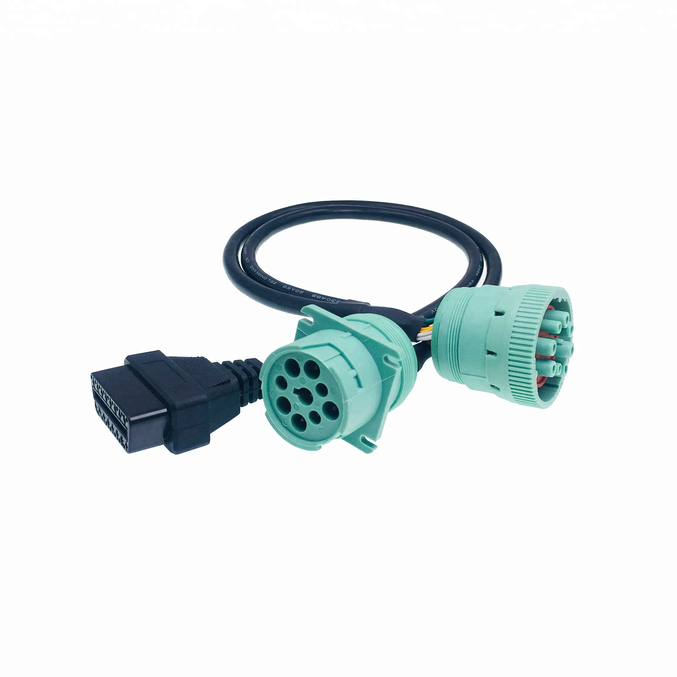 Truck Tool Obd2 Wire Harness J1939 Custom Green Connector Obd Diagnostic  Cars - Buy J1939 Obd2,J1939 Green Connector,J1939 Connector Product on  Alibaba.com