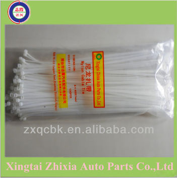 Zhixia ISO / UL certificated self-locking nylon cable ties direct sell supplier/Plastic cable tie with label
