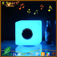 2017 Portable Mini Colorful Flash LED Light Waterproof Wireless Bluetooth Speaker with FM Radio