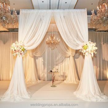 Wedding Mandap White Tulle Chiffon Lace Drape For Decoration View