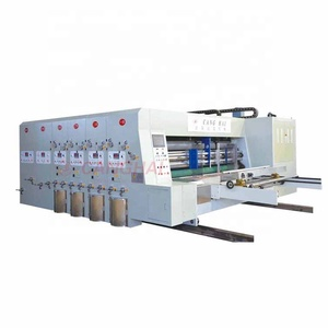CANGHAI High quality best price E or F Flute board pizza carton box auto slotter printing machine with rotary die cutter