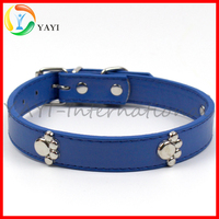 Decorative Metal Paw Dog Leather Posture Collar