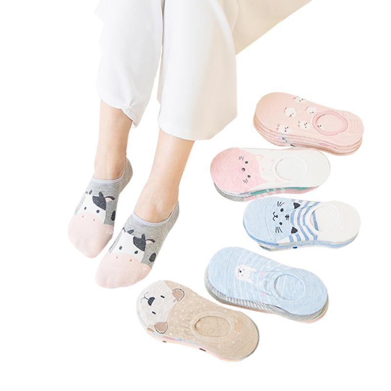 2020 Groothandel Nieuwe Stereo Cartoon Ondiepe Mond Onzichtbare Sokken Boot Sokken Vrouwen Sokken