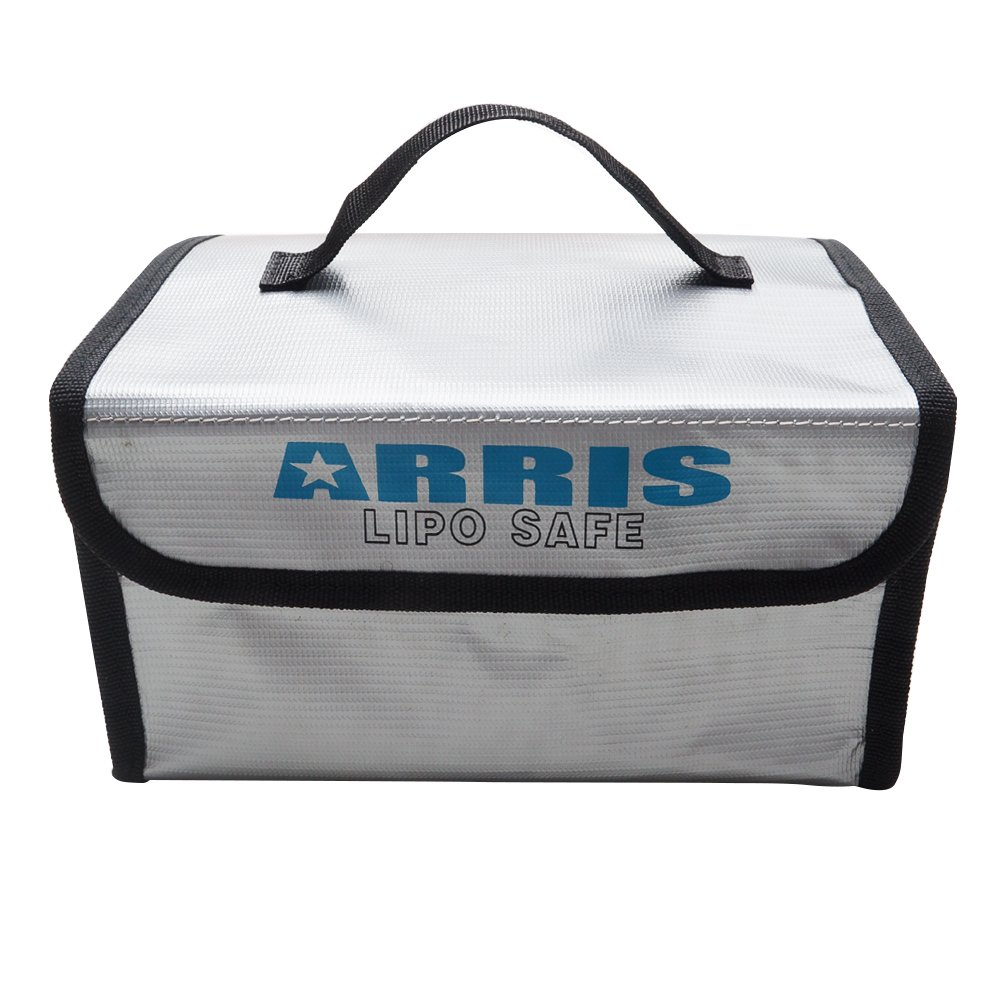 ARRISRC Lipo Battery Safety Bag 215 x 160 x 115mm Fireproof Explosionproof for Safe Charging & Storage