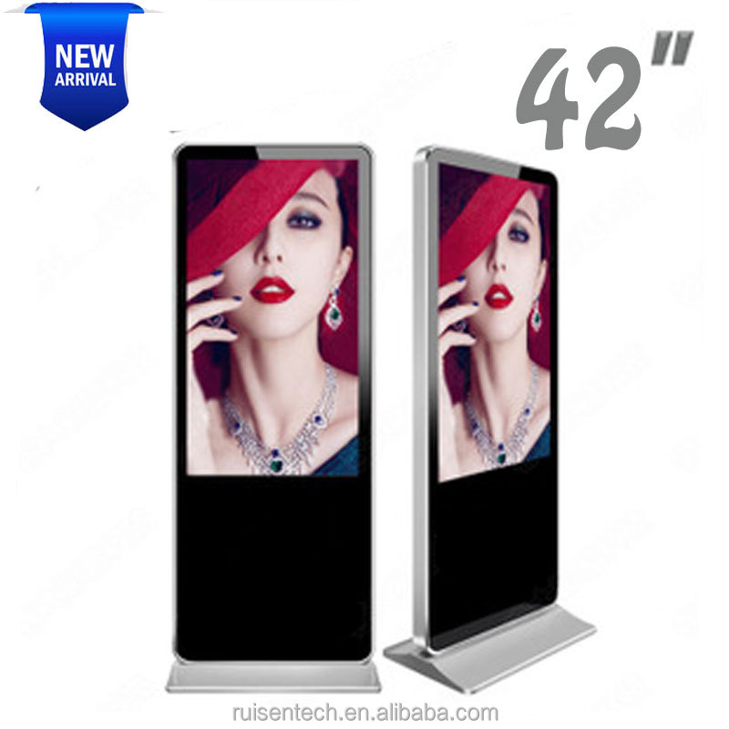 42 Inch Android Advertising Player Photo Booth Machines Panel Digital Signage Lcd Kiosk Stand 55 led touch screen monitor