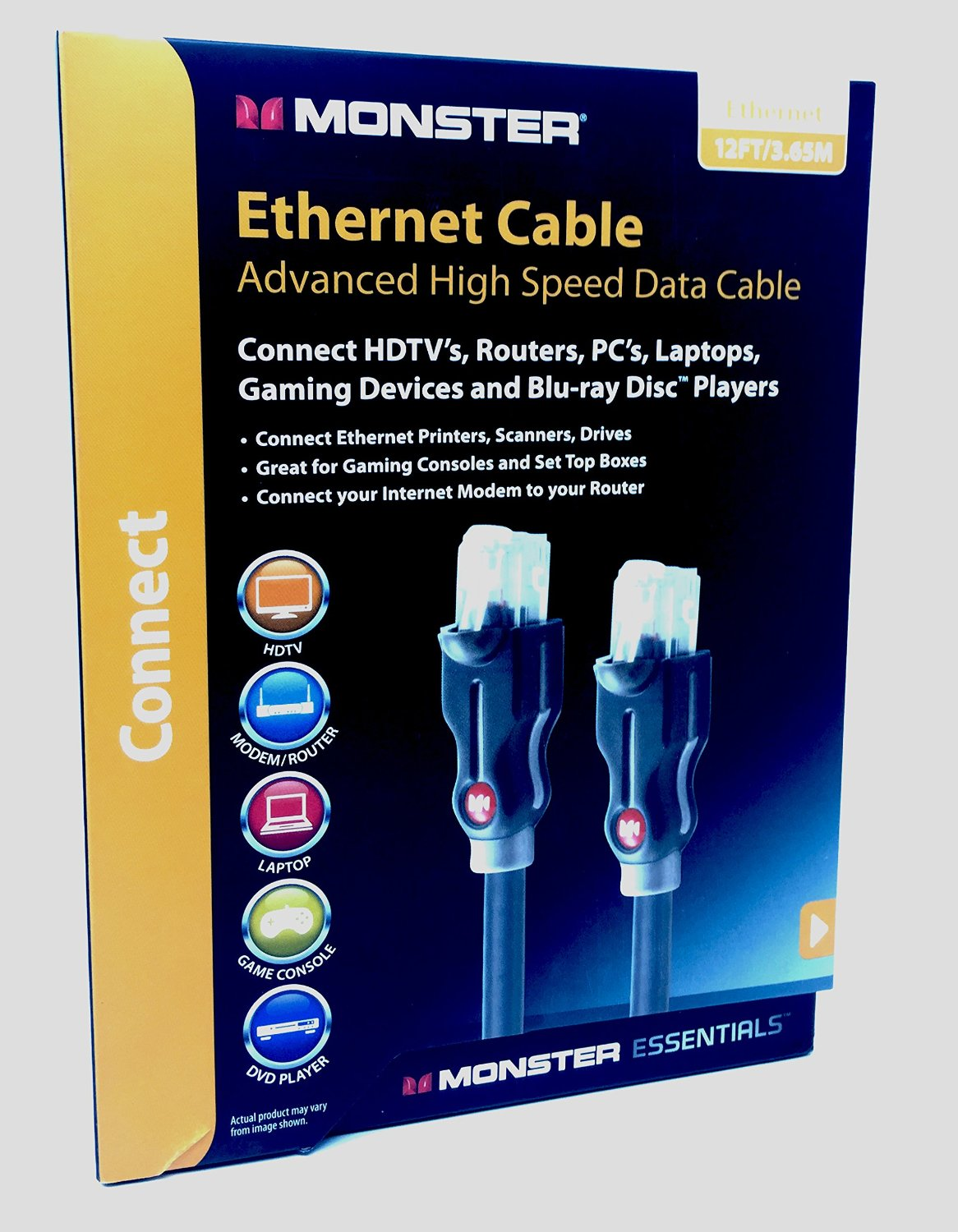 Cheap Monster Ethernet Cable Find Deals On Cat5 Network And Computer Cables Patch Cat5e Get Quotations Cat 6 12ft 365m Supports Cat6