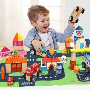 Topbright wholesale learning educational city building blocks toys for kids diy 120115