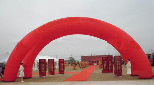 Red Inflatable Arch Support Addvertising / Wedding Tent By Ho-welding Machine