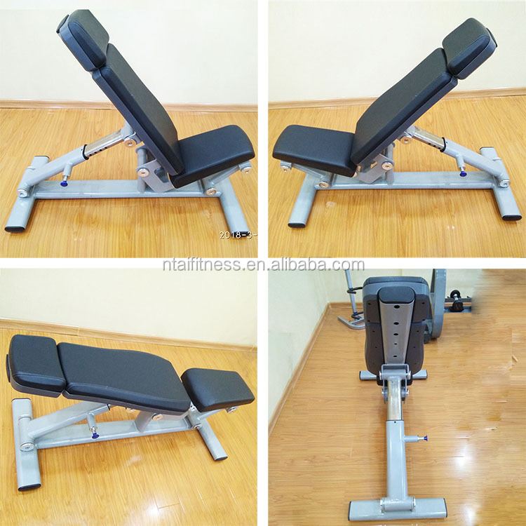 Commercial gym adjustable dumbbell arm exercise super bench