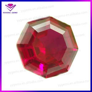 High quality natural exquisite octagon crystal ruby gemstone beads indian gems for ring