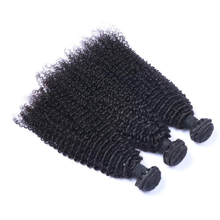 100% brazilian natural black 1b kinky /jerry curly human hair weaving for beauty, N/a