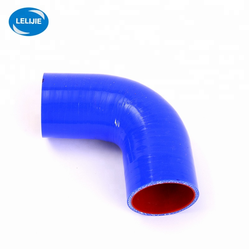 """2.5/"""" 64mm Silicone silicon 90 degree bend elbow black 2 1//2/"""" intake piping"""
