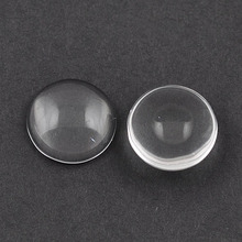 Smooth Transparent Clear 25mm round cabochon wholesale For Blank Pendant Tray