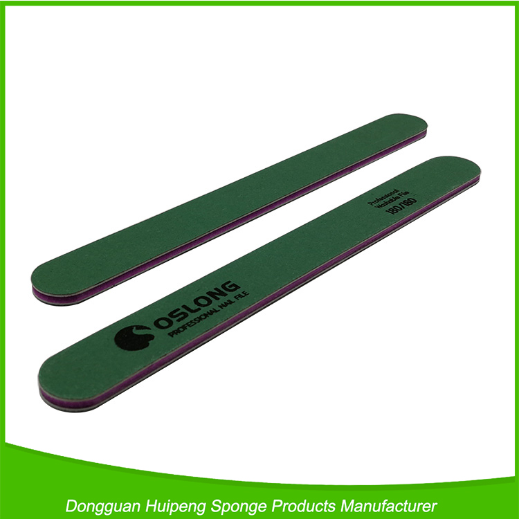 Personalized High Quality Green Washable Nail File Korea