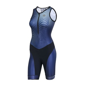 Custom China Manufacture Professional Short Sleeves Team Tri Suit Cycling  Triathlon Skin Suit Women