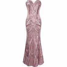 monroo OEM latest design China factory Off-Shoulder gold sequined gown women evening dress