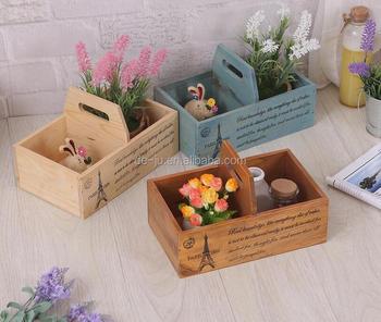 Portable Flower Box Wood Planter Boxes