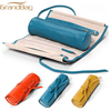 Top Grade Durable Fashion Handmade Soft Leather Tie Around Jewelry Roll bag Genuine leather Grain Leather Jewelry Roll Tie