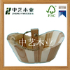 Bail Handle pine wood wooden snack bucket