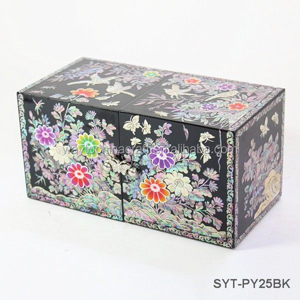 Chinese Antique Jewelry Box With Mirror Chinese Antique Jewelry Box