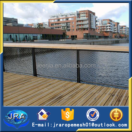 Stainless Steel Cable Mesh For Bridge Protection Railings