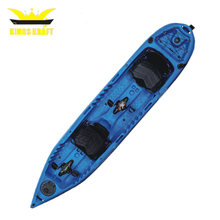 double fishing pedal kayak family boats with pedal drive for hot sale
