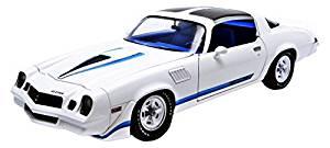 1979 Chevrolet Camaro Z/28 White with Blue Stripes 1/18 by Greenlight 12903